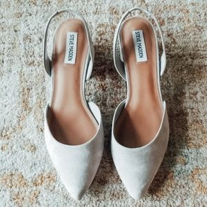 Steve Madden Gray Suede Leather Low Slip On Mules